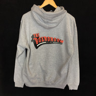 The Boardroom Classic Logo Hoodie - Grey / Red