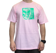 """OBEY X Misfits 7"""" Cover Tee - Pink"""