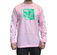 "OBEY X Misfits 7"" Cover Long Sleeve Tee - Pink"