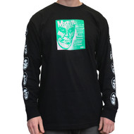 "OBEY X Misfits 7"" Cover Long Sleeve Tee - Black"