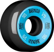 Bones 100's V5 Skateboard Wheels 53mm - Black