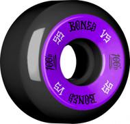 Bones 100's V5 Skateboard Wheels 55mm - Black
