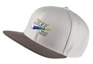 Nike SB Pro Snapback Hat - Light Bone / Multi Swoosh