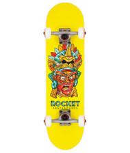 """Rocket Complete Skateboard Mini Mask Aztek 7.375"""""""