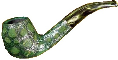 Learn alligator green savinelli tobacco pipe history past.