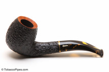 Savinelli Oscar Tiger 677 KS Tobacco Pipe - Rustic Left Side