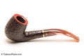 Savinelli Roma Rustic 606 KS Lucite Stem Tobacco Pipe Left Side
