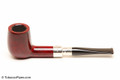 Peterson Spigot Red Spray 106 Smooth Tobacco Pipe Fishtail Left Side