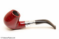 Peterson Spigot Red Spray 68 Smooth Tobacco Pipe Fishtail Left Side