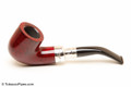 Peterson Spigot Red Spray 01 Smooth Tobacco Pipe Fishtail Left Side