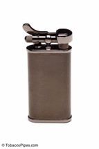 Kiribi Kabuto Black Nickel Pipe Lighter Front