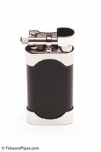 Kiribi Mikazuki Black Matte Pipe Lighter Front