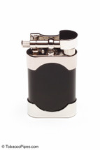 Kiribi Mikazuki Short Black Matte Pipe Lighter Front
