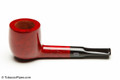Chacom Punch 81 Red Smooth Tobacco Pipe Left Side