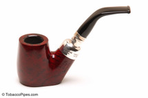 Peterson Spigot Red Spray 306 Smooth Tobacco Pipe Fishtail Left Side