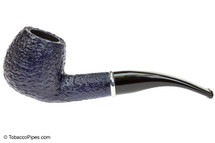 Savinelli Arcobaleno 626 Blue Tobacco Pipe - Rustic Left Side