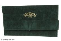 Savinelli Velvet Tobacco Pipe Pouch - Green