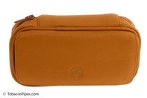 Rattray's 2 Pipe Leather Bag - Natural Front