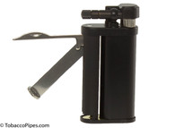 Kiribi Tomo Black Matte Pipe Lighter Open