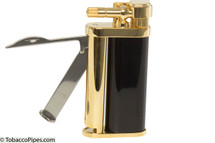 Kiribi Tomo Gold & Black Pipe Lighter Open