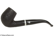Brigham Chinook 23 Tobacco Pipe - Bent Billiard Sandblast