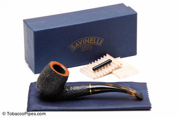 Savinelli Oscar Tiger Rustic Briar Pipe KS 606 Tobacco Pipe Kit