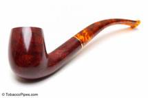Savinelli Tortuga Smooth KS Briar 606 Tobacco Pipe Left Side