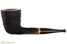 OMS Pipes Straight Oval Dublin Tobacco Pipe - Brass Band