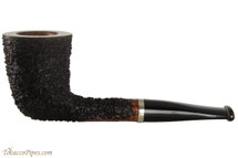 OMS Pipes Straight Oval Dublin Tobacco Pipe - Silver Band