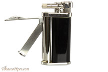 Pearl Eddie Black & Silver Pipe Lighter with Tools