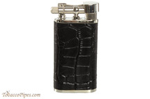 Pearl Stanley Black Leather Pipe Lighter