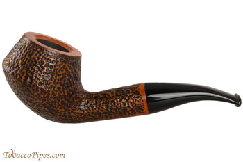 Vauen Curve 430 Brown Tobacco Pipe - Bent Pot Sandblast