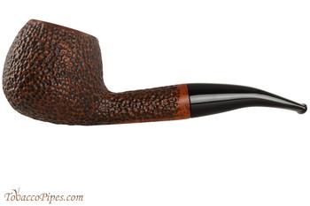 Vauen Curve 431 Brown Tobacco Pipe - Bent Apple Sandblast