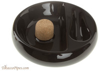 Savinelli Ceramic 1 Pipe Ashtray with Knocker - Black