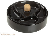 Savinelli Ceramic 3 Pipe Ashtray with Knocker - Black