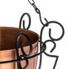 H Potter metal detailing on hanging planter