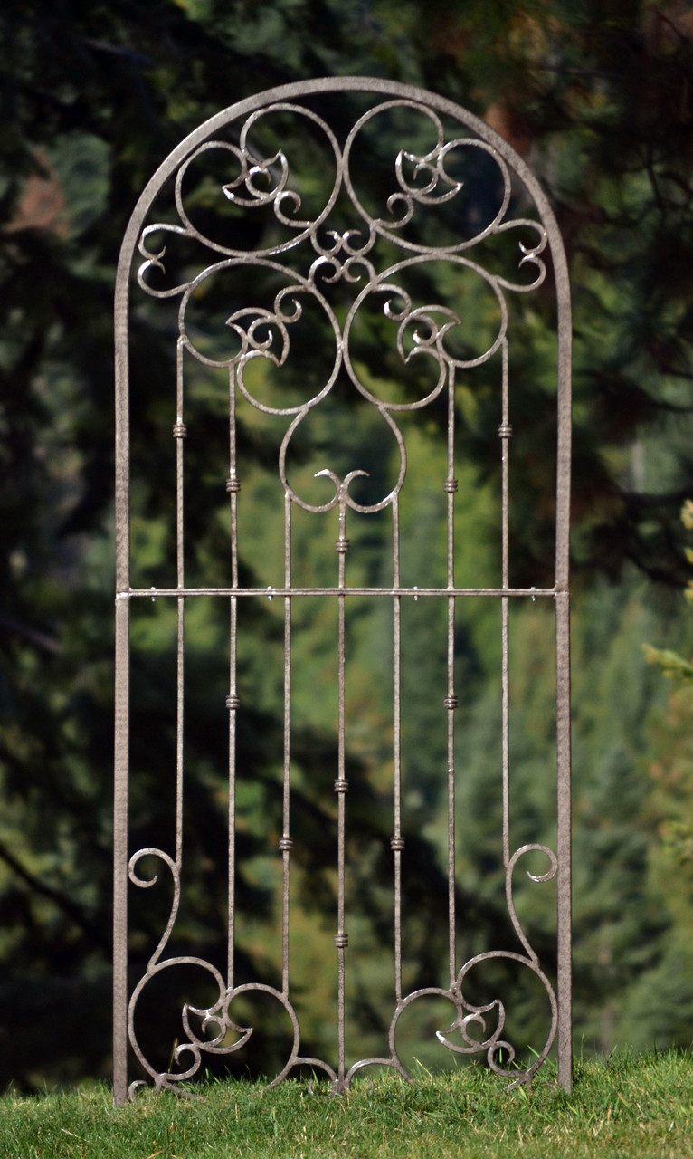 H potter large wrought iron ornamental metal scroll garden
