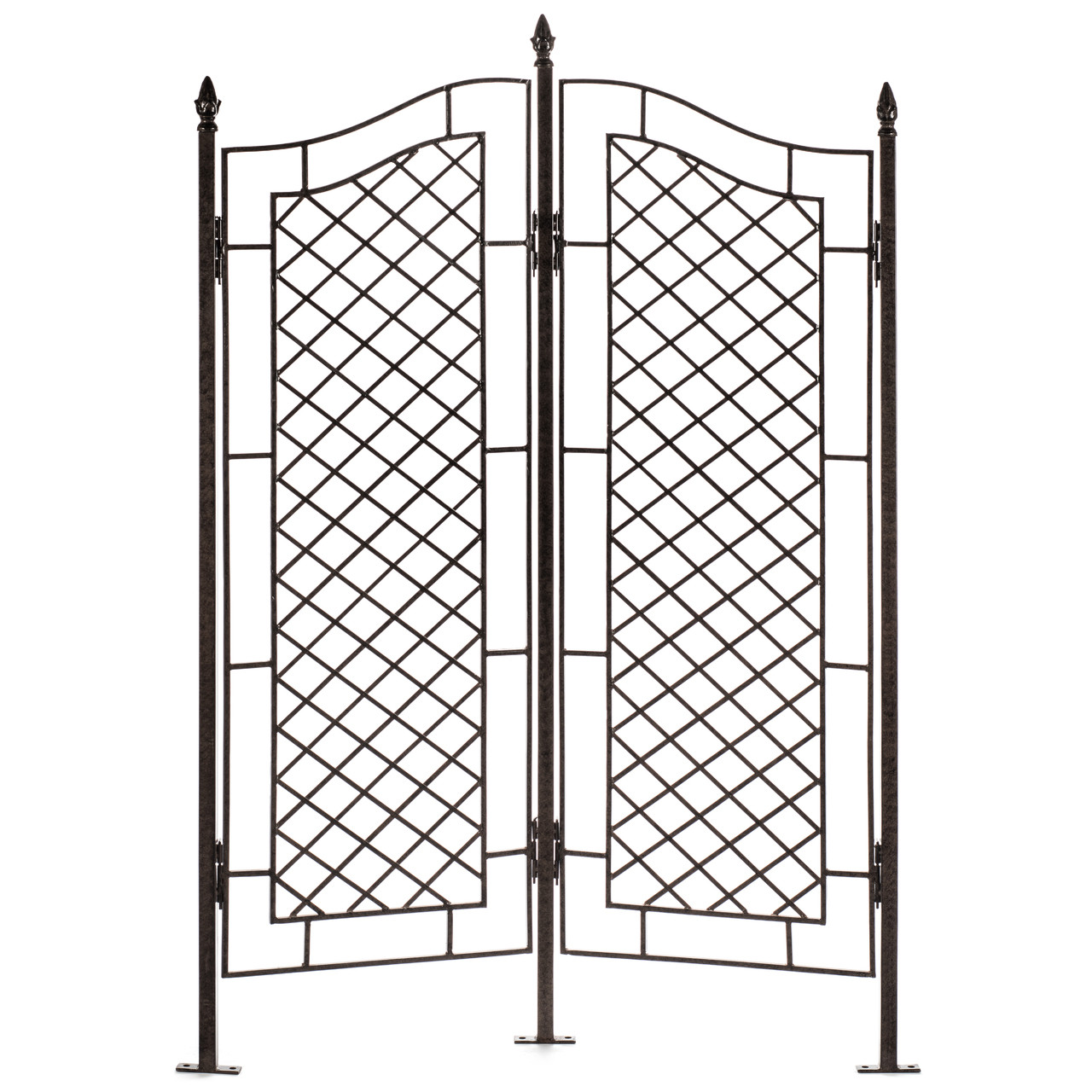 h potter two panel trellis wrought iron ivy garden screen - Garden Trellises