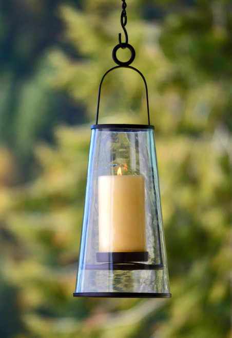 H Potter Hanging Patio Deck Candle Holder Lantern