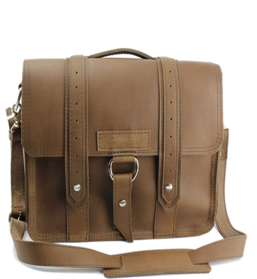 "10"" Small Brooklyn Voyager Safari iPad (Tablet) Bag in Brown Oil Tanned Leather"
