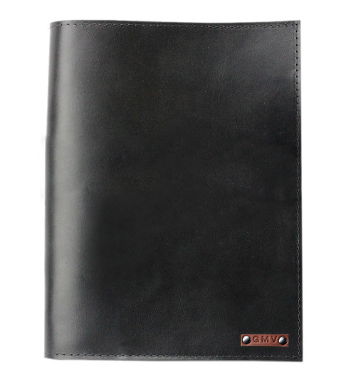 Classic 8.5X11 Padfolio in Black Latigo Leather Made in the U.S.A. - PDF-BL-EXL-8.5X11