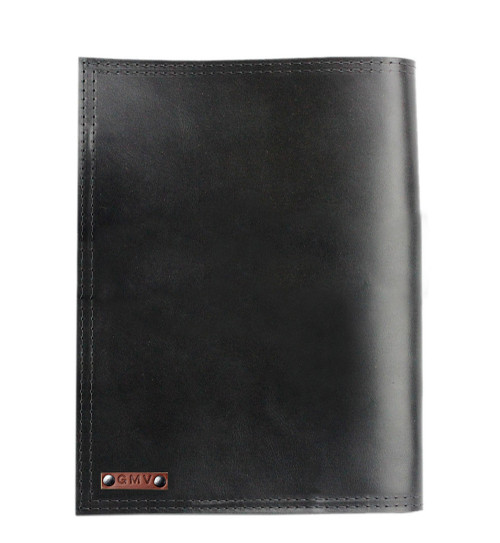 Left handed Classic Padfolio in Black Excel Leather