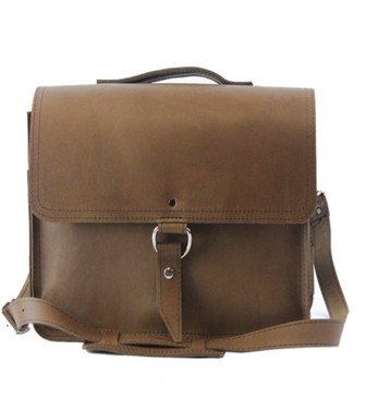 """10"""" Small Safari Midtown iPad (Tablet) Bag in Brown Oil Tanned Leather"""