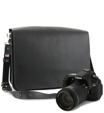 "Large 15"" Mission Sonoma Camera Bag Made in the U.S.A. - Black - 15-MIS-BL-LCAM"