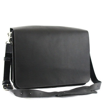 "Large 15"" Sierra Mission Laptop Bag Made in the U.S.A. - Black - 15-MIS-BL-LAP"