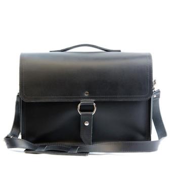 "14"" Medium Rockport Midtown Briefcase in Black Napa Excel Leather"