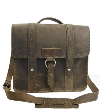 "10"" Small Brooklyn Voyager iPad (Tablet) Bag in Distressed Tan Oil Tanned Leather"