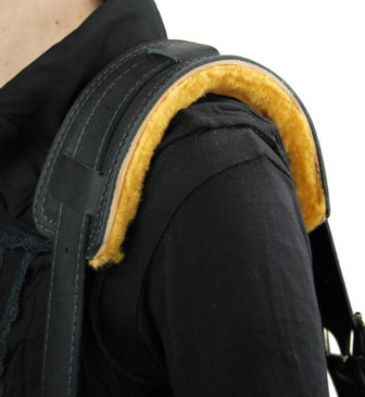 Sheeps Wool Shoulder Pad (Shown with Leather Shoulder Strap, not included)