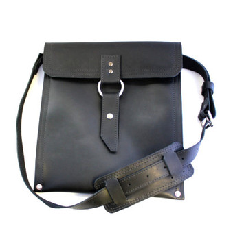 The Richmond - Classic Black - Slim Line Traveler iPad (Tablet) Bag Made in the U.S.A.