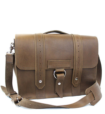 "15"" Large Sierra Voyager Large Laptop Bag in Brown Oil Tanned Leather"